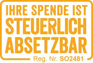 Ihre Spende ist steuerlich absetzbar. SO2481